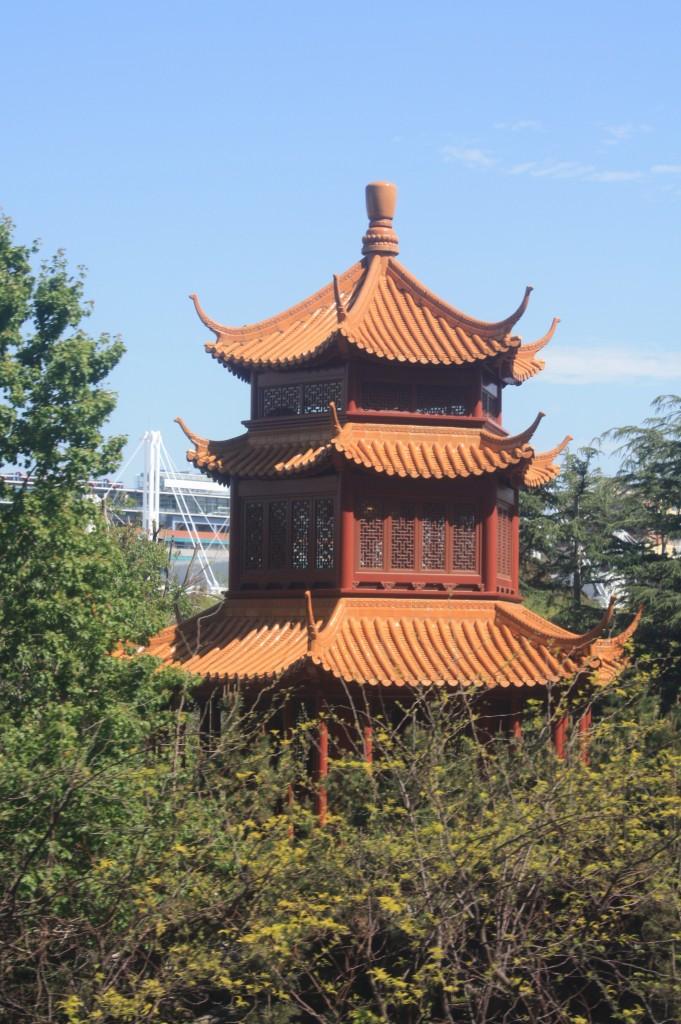 jardines chinos desde el monorail de sydney