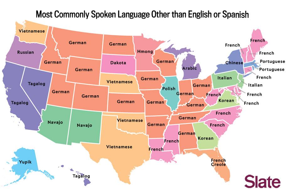 El tercer idioma más hablado en Estados Unidos tras el inglés y el español...
