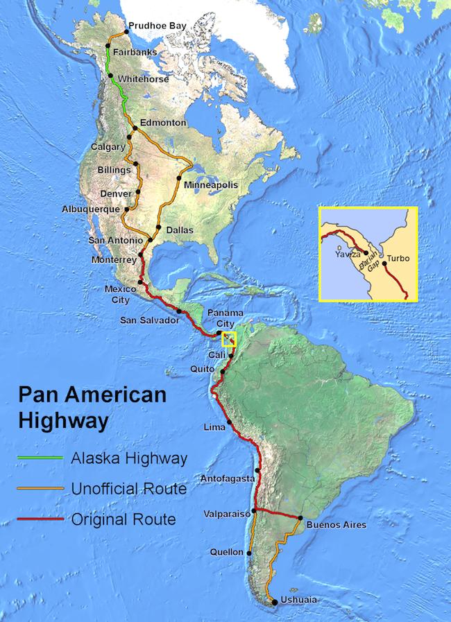 Recorrido de la Panamericana