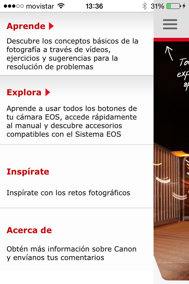 app canon menu
