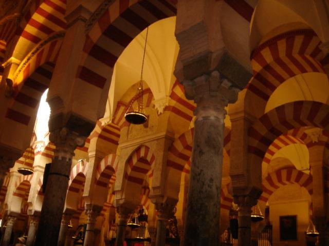 Interior de la mezquita de Córdoba (200