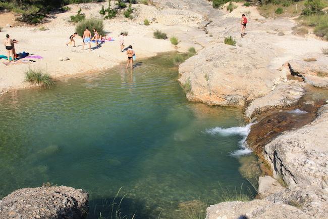 Perfectas zonas de baño en el río cerca de Beceite