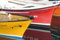 Barcas en el puerto de Donosti, pegadito al casco antiguo