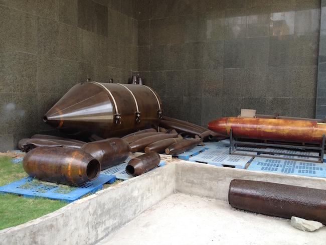 Bombas en el War Remmants Museum
