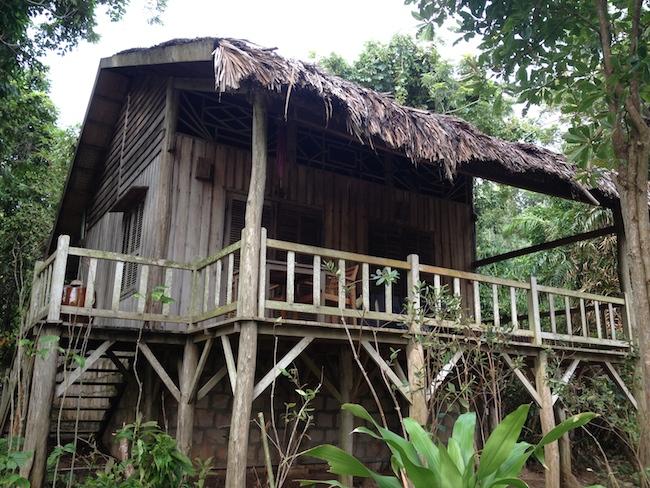 Así son los bungalows de Mango Bay Resort. Y por dentro, muy acogedores...