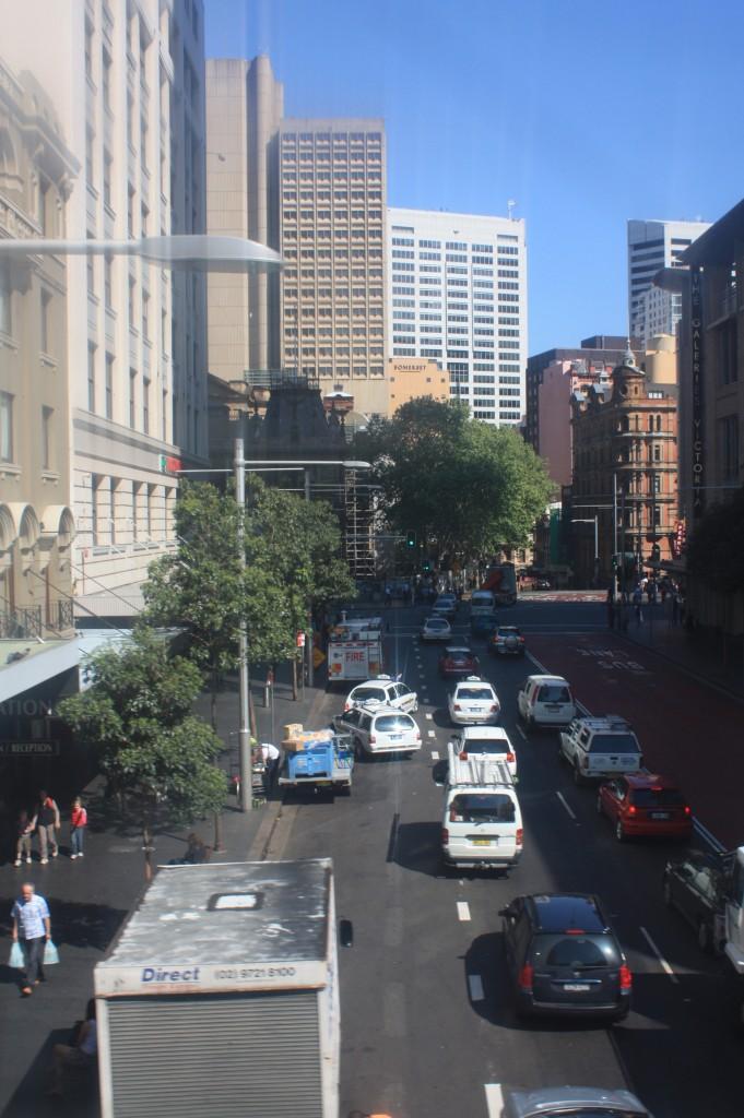 calles del centro desde el monorail de sydney