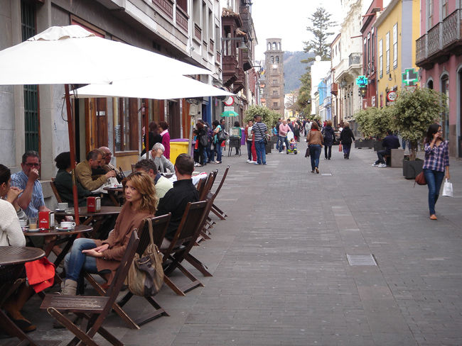 calles peatonales de La Laguna