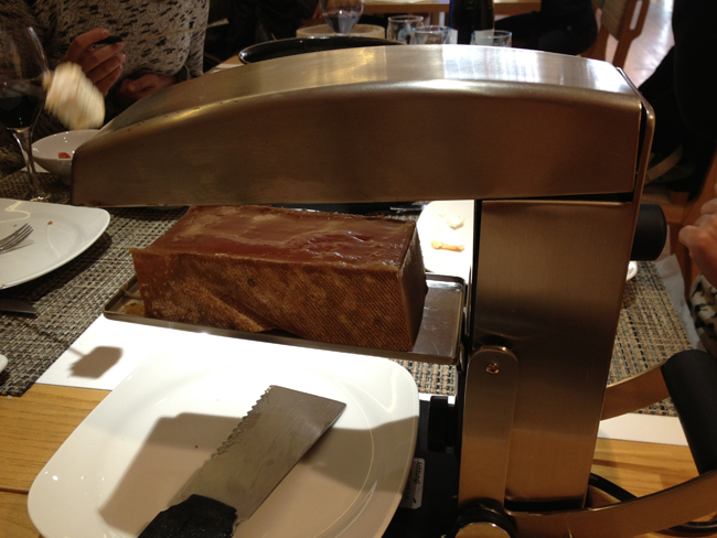 la raclette a pleno funcionamiento
