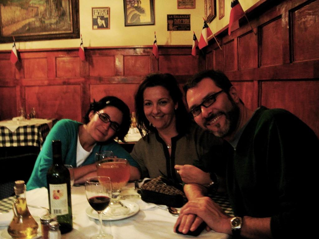 cronicas viajeras santiago cena