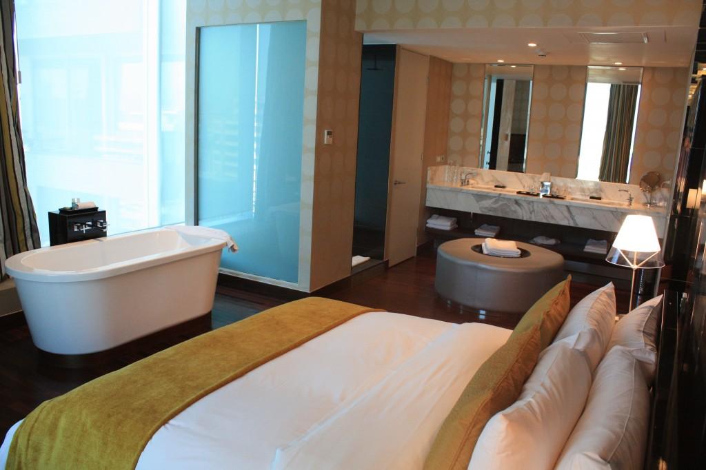 Detalle de una habitación del hotel W Santiago
