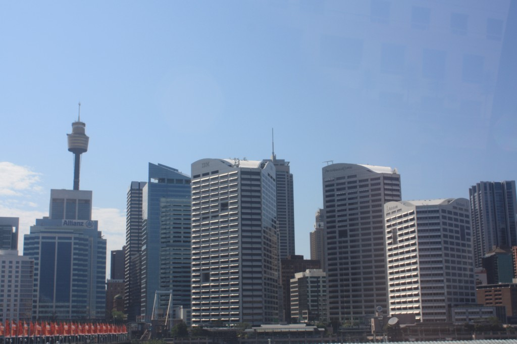 el central business district de sydney desde el monorail