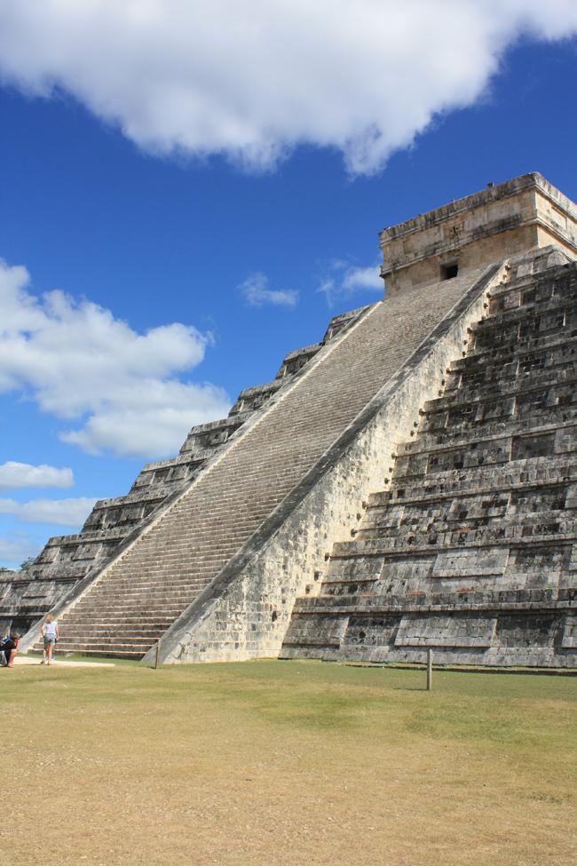 Pirámide de Chichen Itza: escalinata