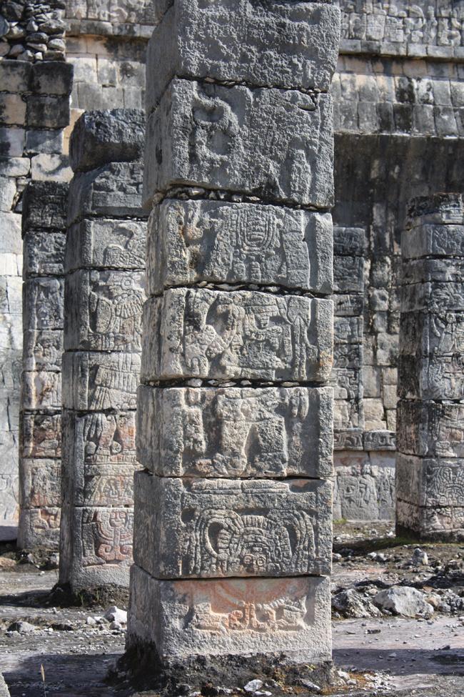 guerrero en las mil columnas de chichen itzá