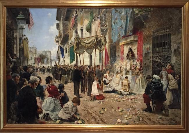 Arcadi Mas, la Procesión del Corpus, 1887