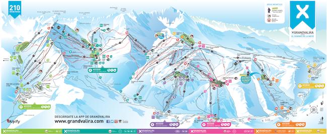 mapa de pistas de Grand Valira