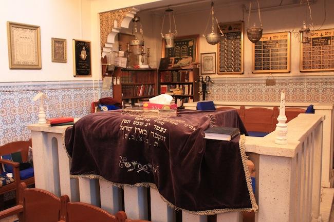 Interior de la Sinagoga de Marrakech
