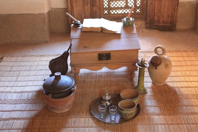 Interior de una de las celdas de la madraza ben youseff