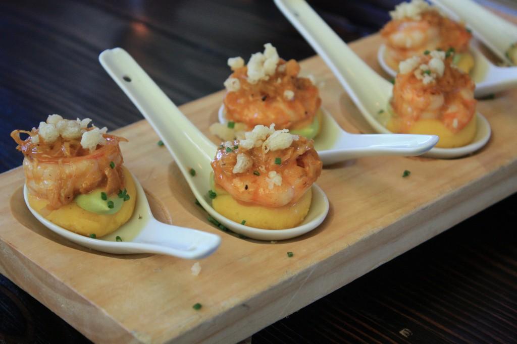 causa de camarón (restaurante Osaka, Santiago de Chile)