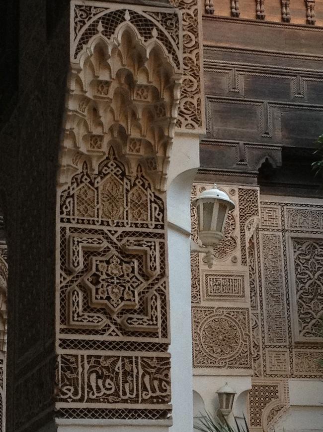 Artesonado en el Palacio Bahia de Marrakech