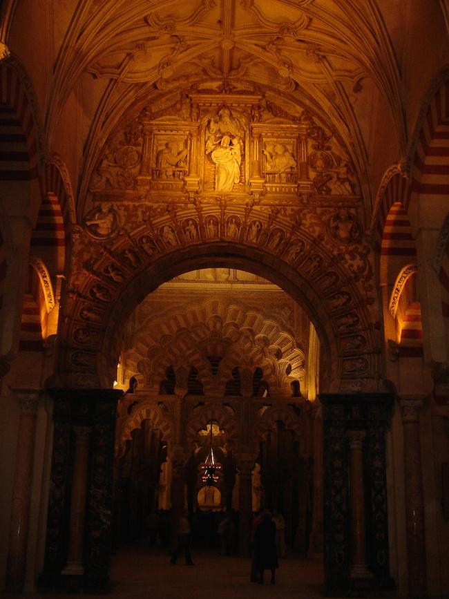 Detalle de la catedral en la mezquita de Córdoba (2007)