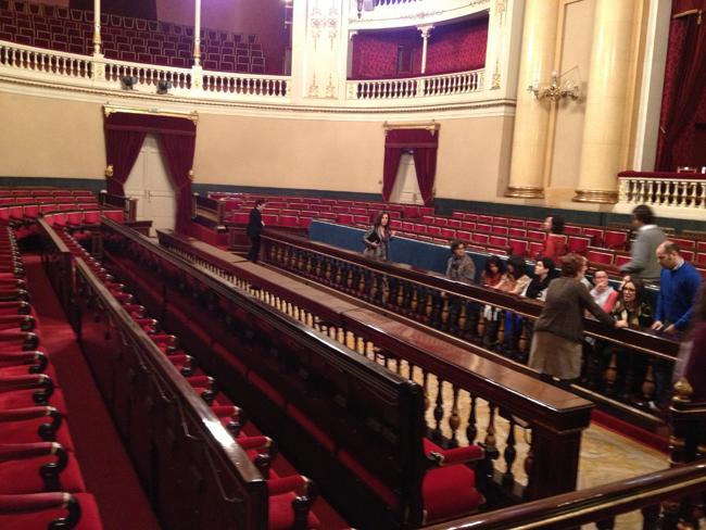 salón de sesiones del Senado