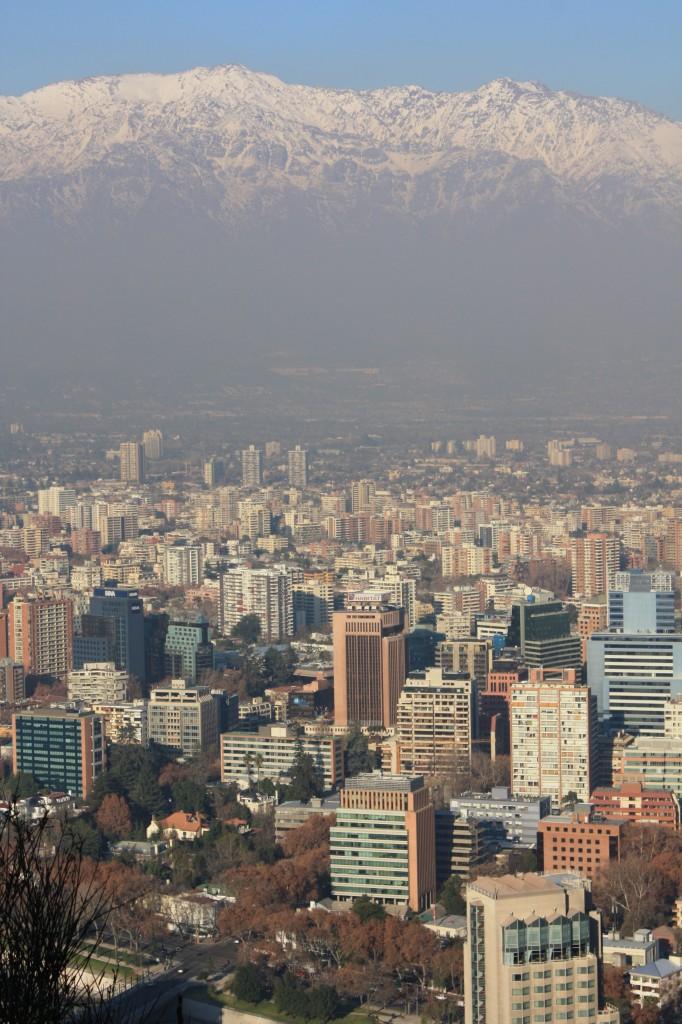 santiago desde el parque metropolitano