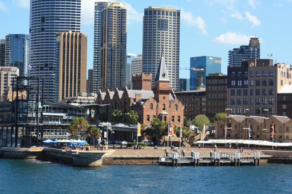 sydney desde el mar circular quay