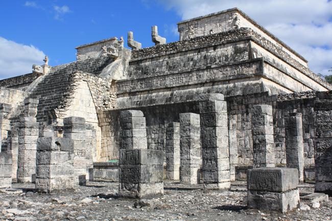 templo de los guerreros de chichen itzá