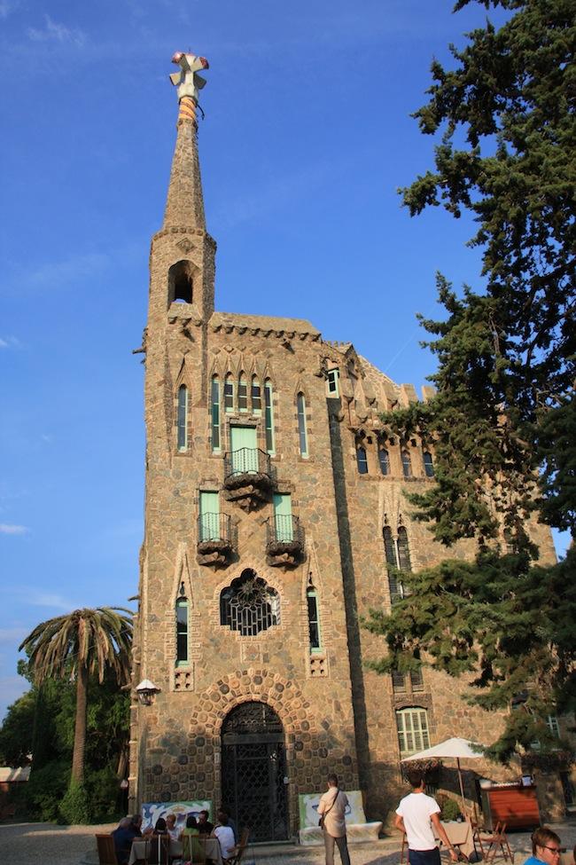 Torre Bellesguard: fachada frontal