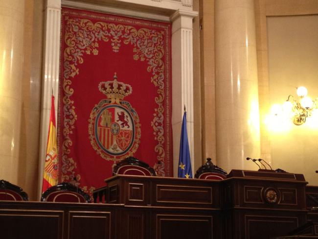 tribuna del salón de sesiones del senado