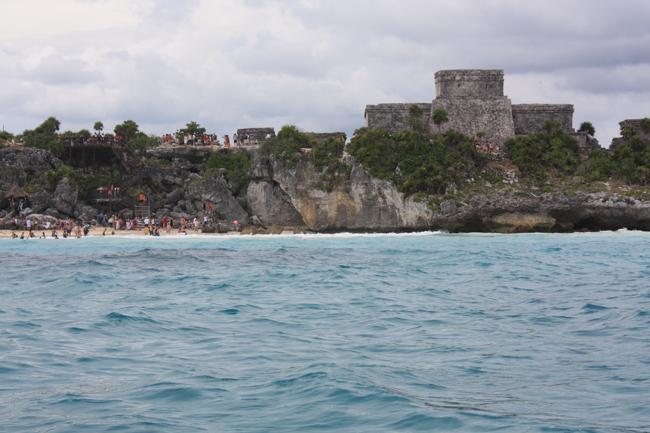 Tulum: el Castillo desde el mar