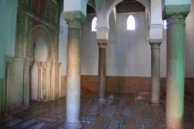 Tumbas Saadies: interior de una sde las salas