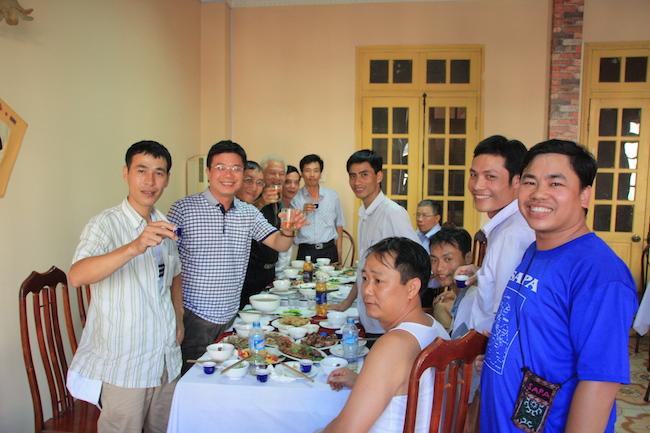 El grupo de profes vietnamitas