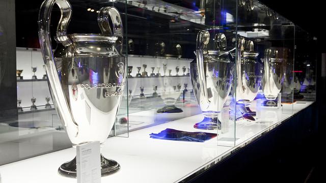 Trofeos del F.C. Barcelona. Foto de www.fcbarcelona.es