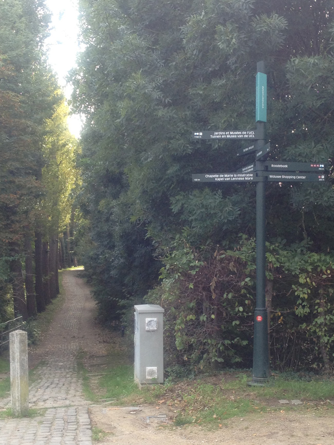 Bruselas en bicicleta - señalización