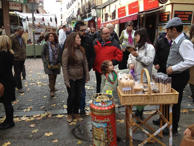 En el mercado del Rastro...