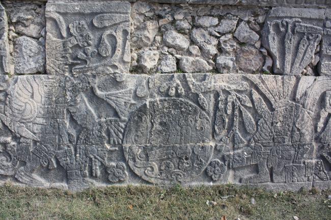 grabado cabezas cortadas en chichen itzá
