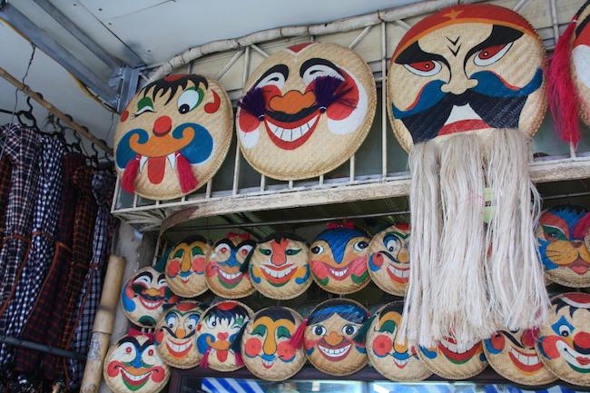 Máscaras a la venta en Hanoi