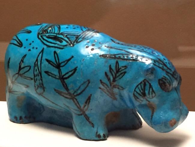 hipopotamo azul animales y faraones