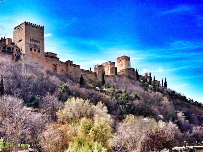 La Alhambra desde el Paseo de los Tristes