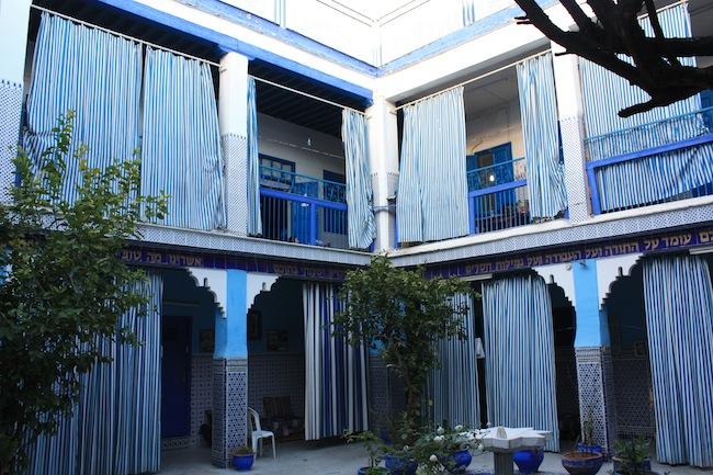 El patio de la Sinagoga de La Mellah de Marrakech