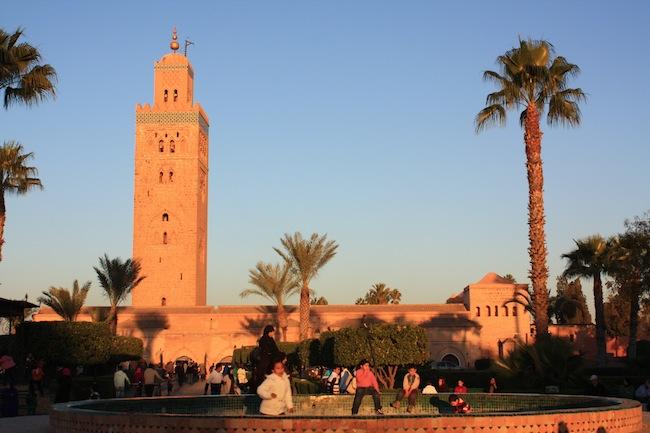 La Koutoubia es la construcción más alta de Marrakech: 69 metros