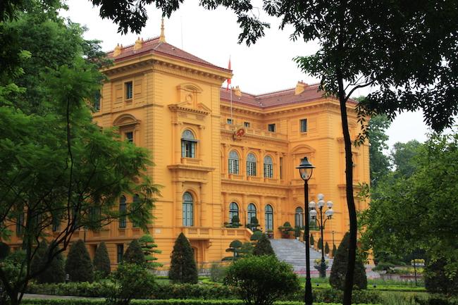 el que fuera el palacio del gobernador de Indochina en la época francesa