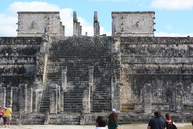 templo de los guerreros en chichen itzá
