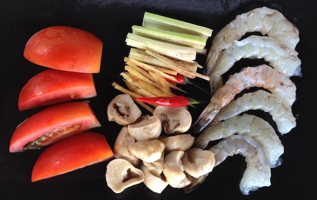 Ingredientes para tu sopa Tom Yun Goong