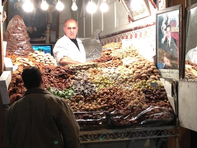 Dulces tradicionales en el zoco